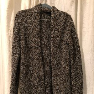Ann Taylor Long Chunky Fuzzy speckled cardigan